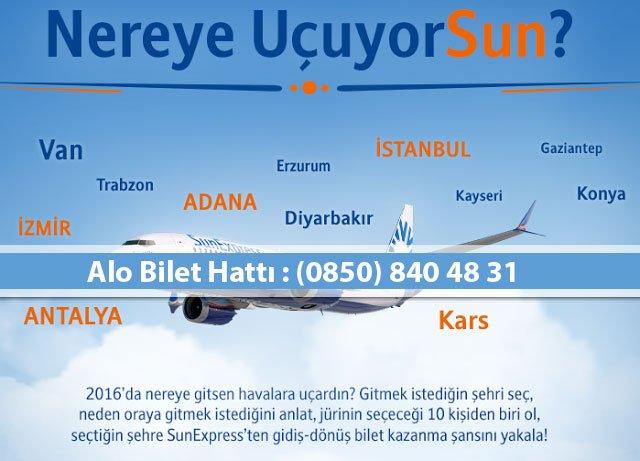sunexpress ucuz uçak bileti telefon